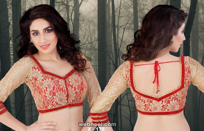 net neck blouse design