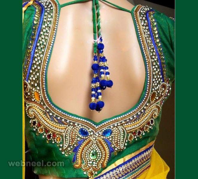 bridal backless blouse design