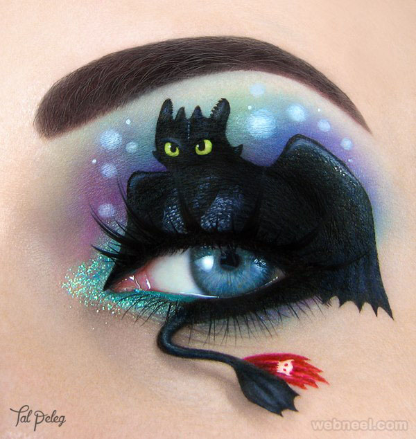 dragon eye makeup idea by tal oeleg