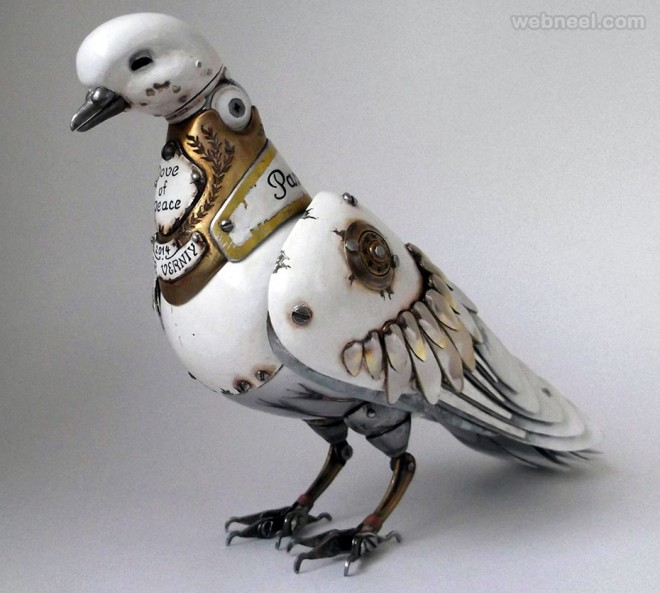 bird metal sculpture by igor verniy