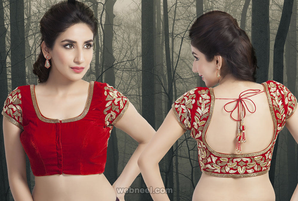 square neck blouse design
