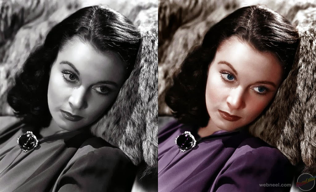 colorize old photos vivian leigh