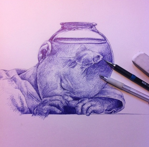 creative drawing idea by bar phillippe