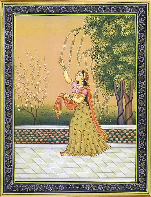 ragini vasanti rajasthani rajput painting