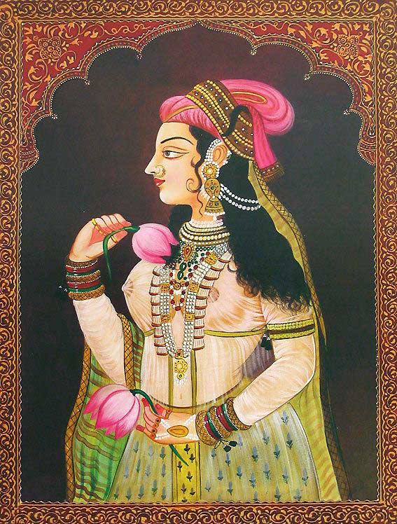 queen rajasthani rajput painting