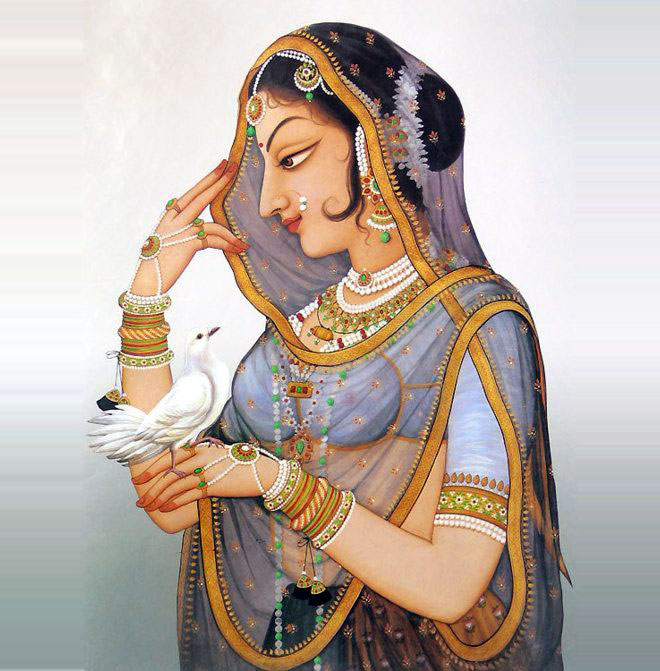 queen padminrajasthani rajput painting