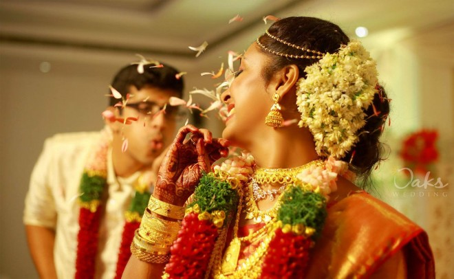 A typical nair wedding represents simple, elegant way to bind man and woman together.