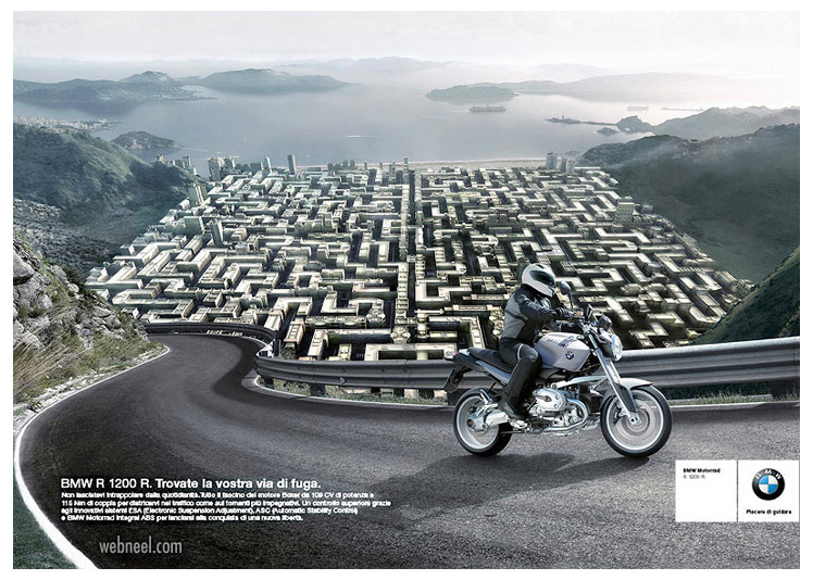 advertising ideas design bike bmw