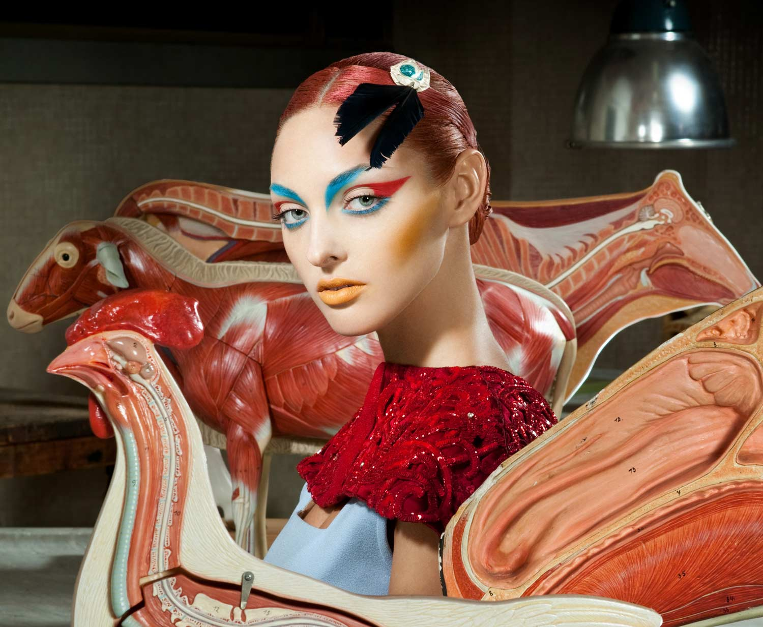 fashion photography red by lucia giacani