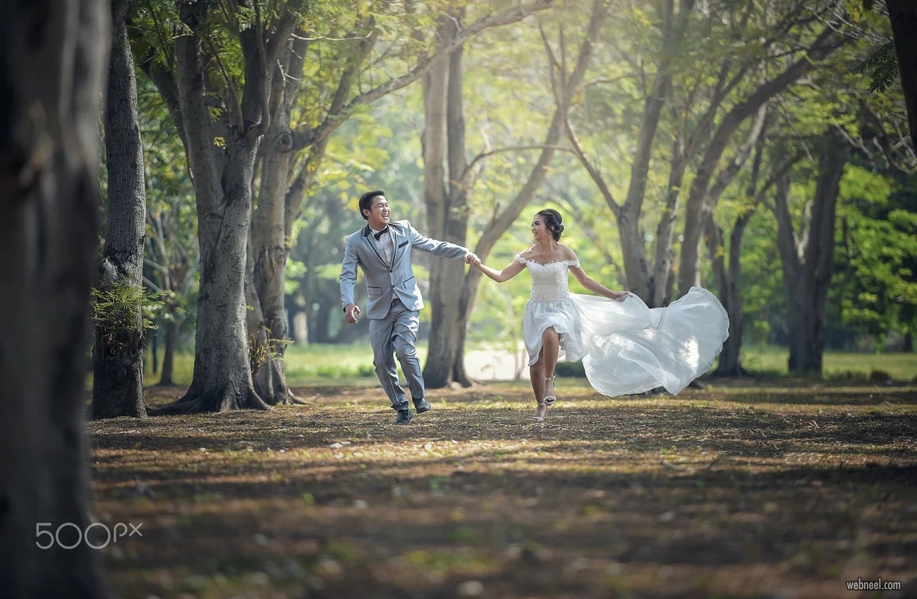 romantic wedding photoshoot idea