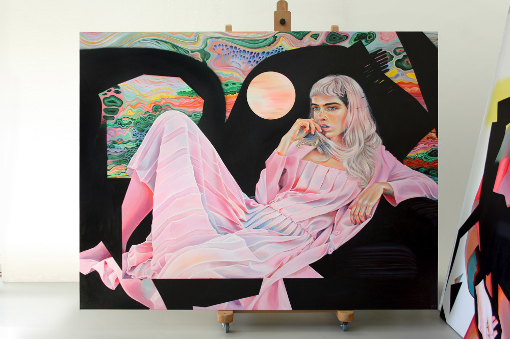 acrylic paintings arcadia by martine johanna