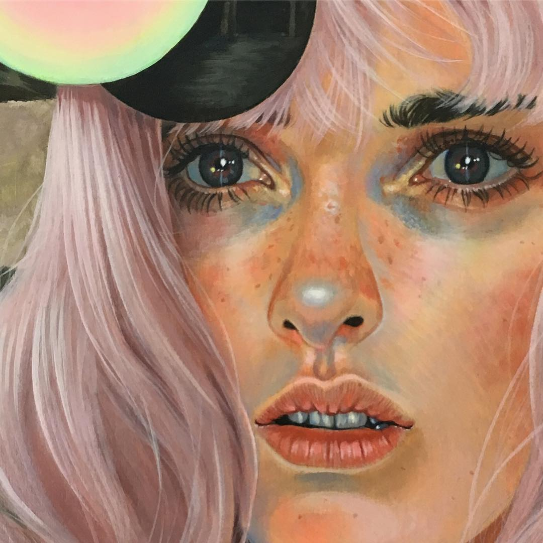 acrylic paintings lyingwait by martine johanna