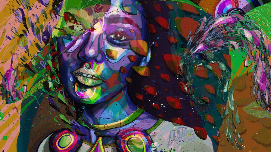 colorful painting sonoya