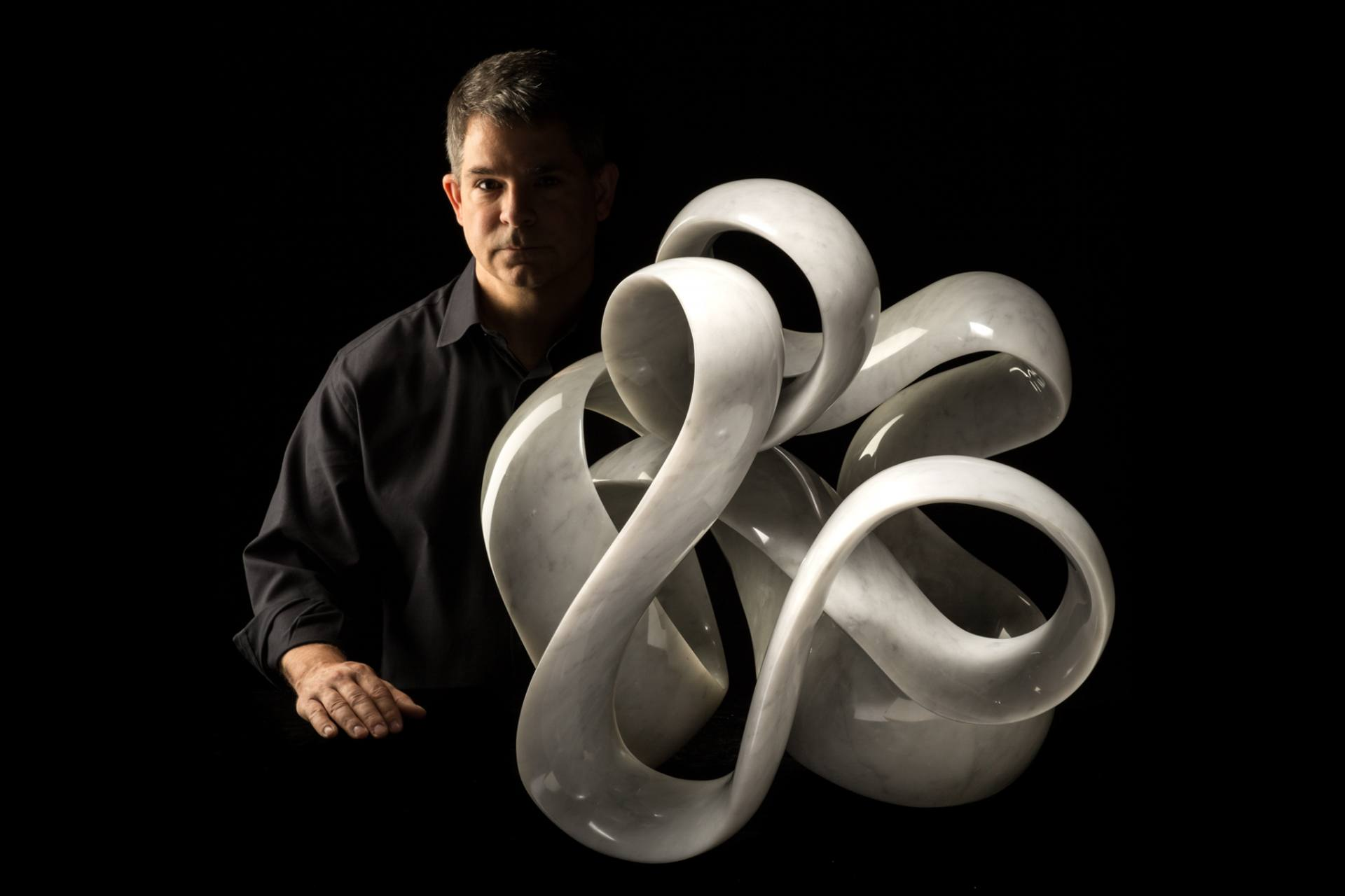 marble sculpture aura by joey marcella