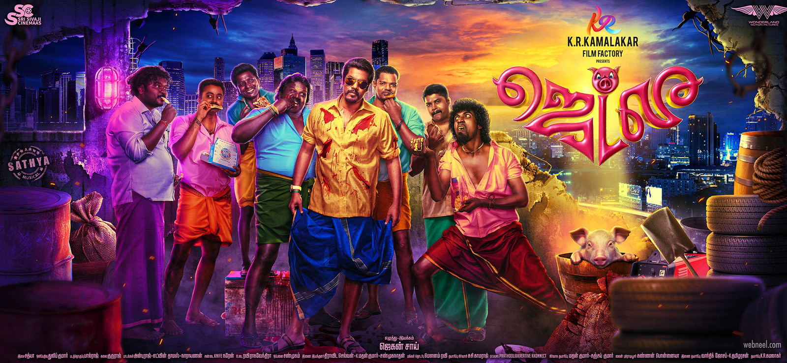 movie poster design india tamil jetlee by prathoolnt