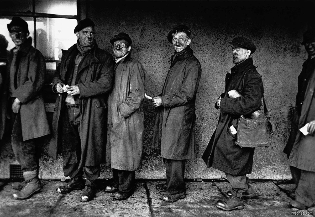 world famous photographs miners by robert frank