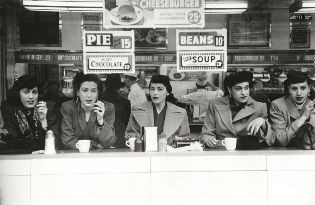 world famous photographs cafe by robert frank