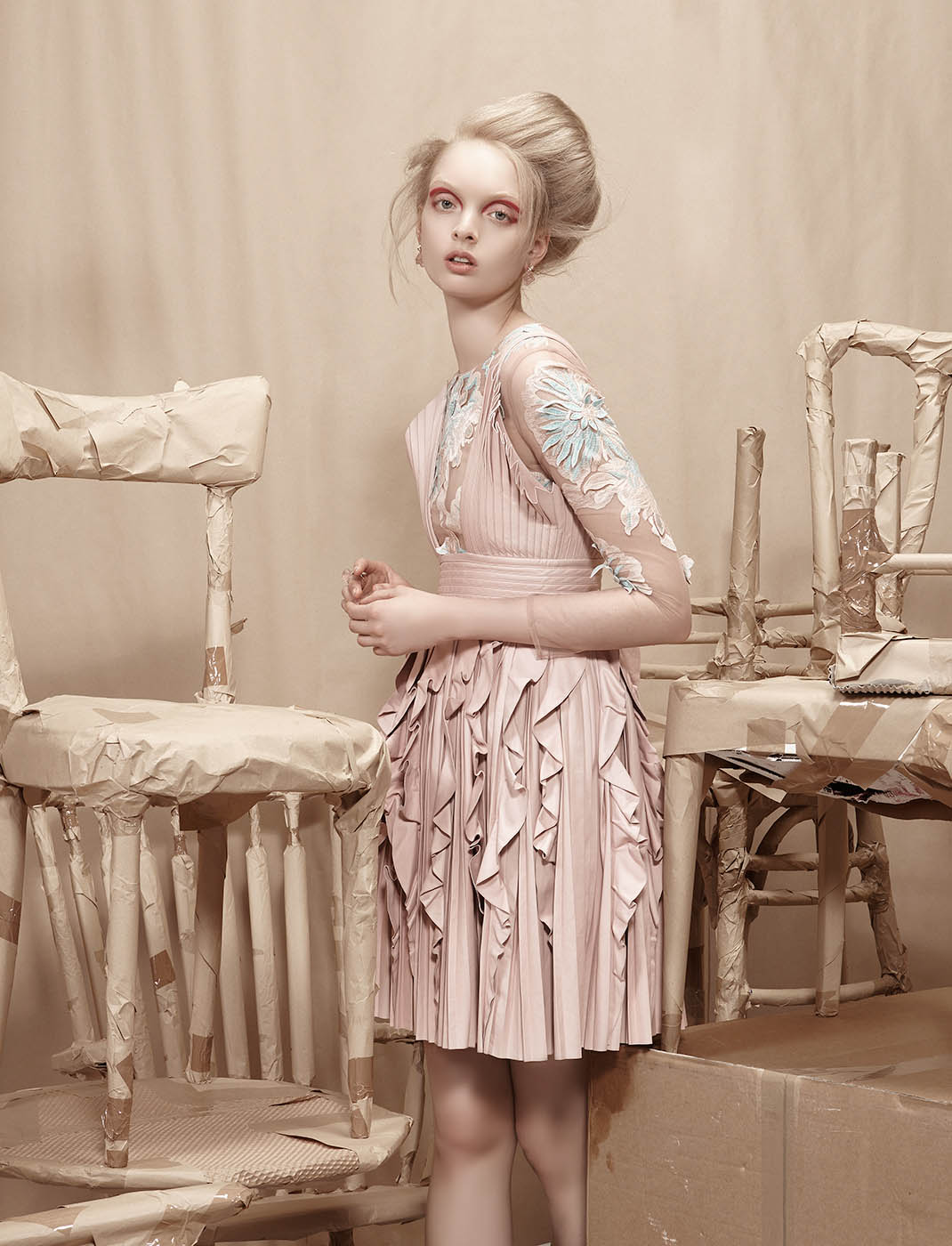 fashion photography peach by lucia giacani