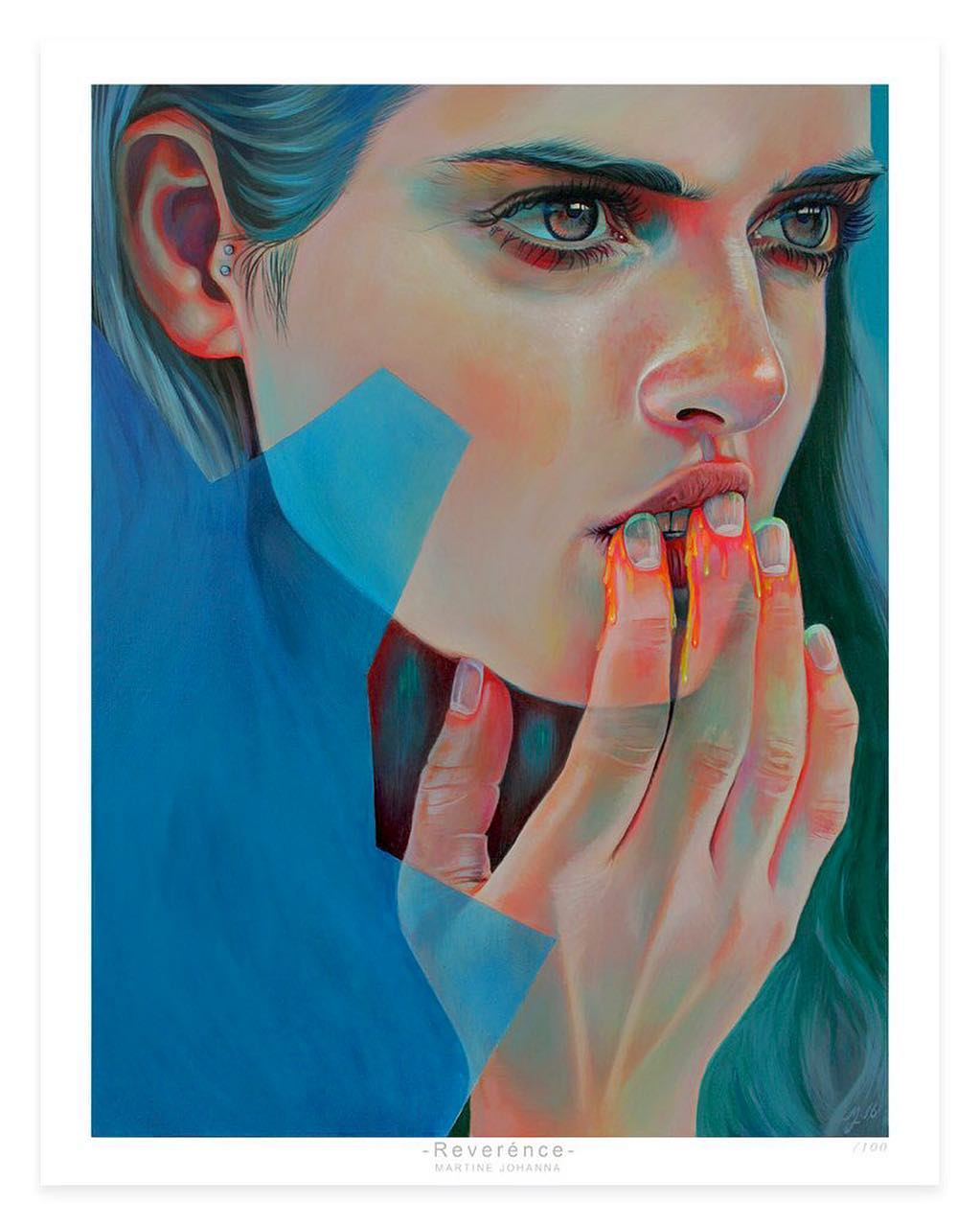 acrylic paintings honey by martine johanna