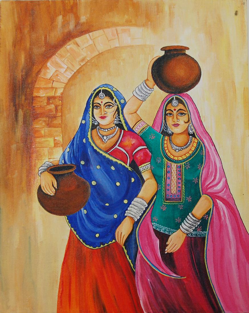 painting rajasthani modern