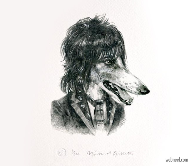 pencil drawing dog keef funny by michaelgillete