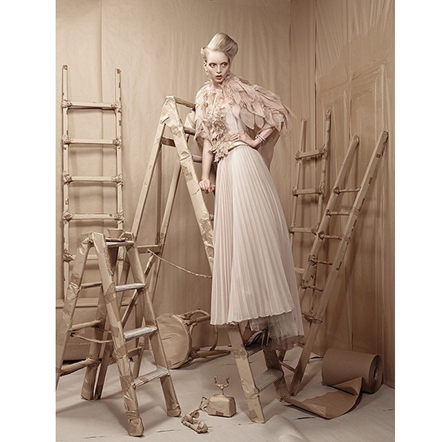 fashion photography ladder