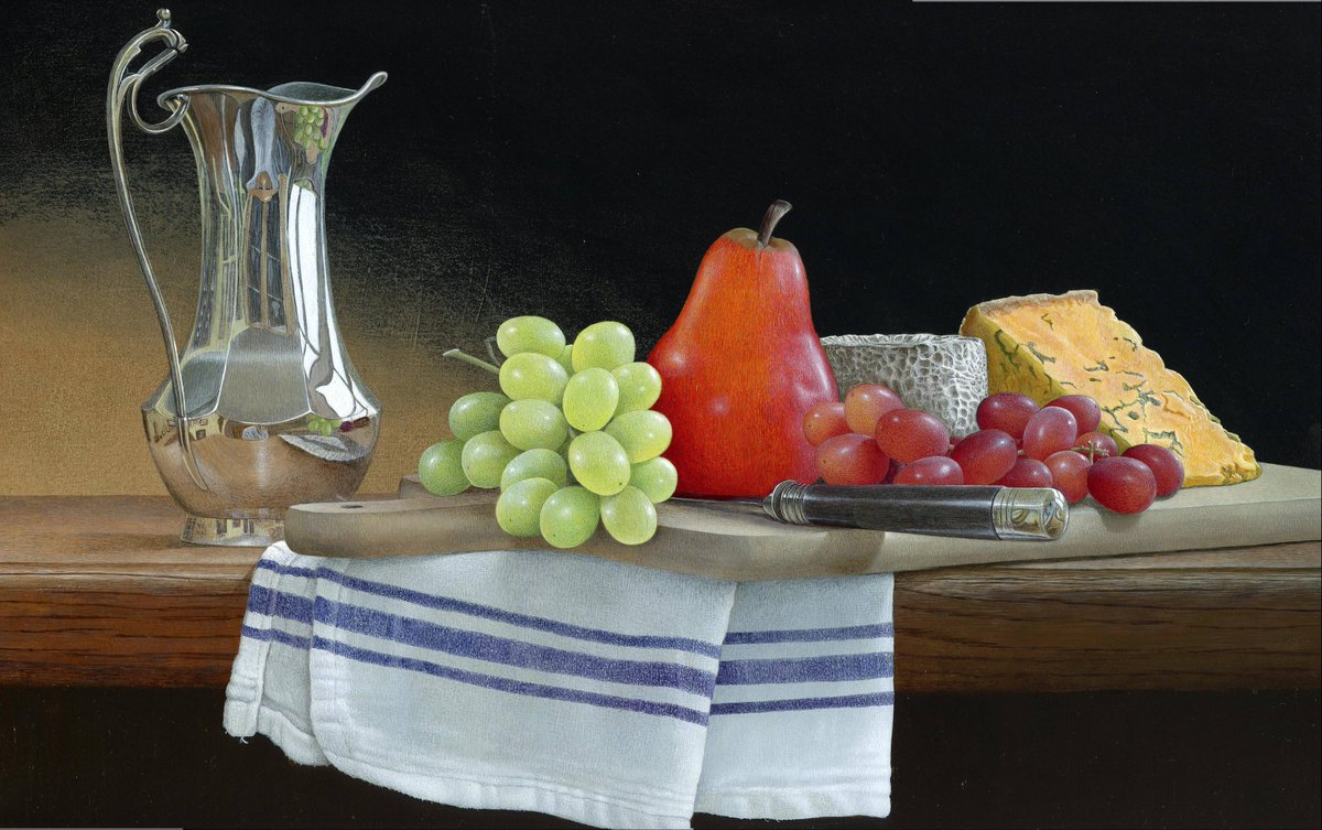 acrylic still life painting fruits