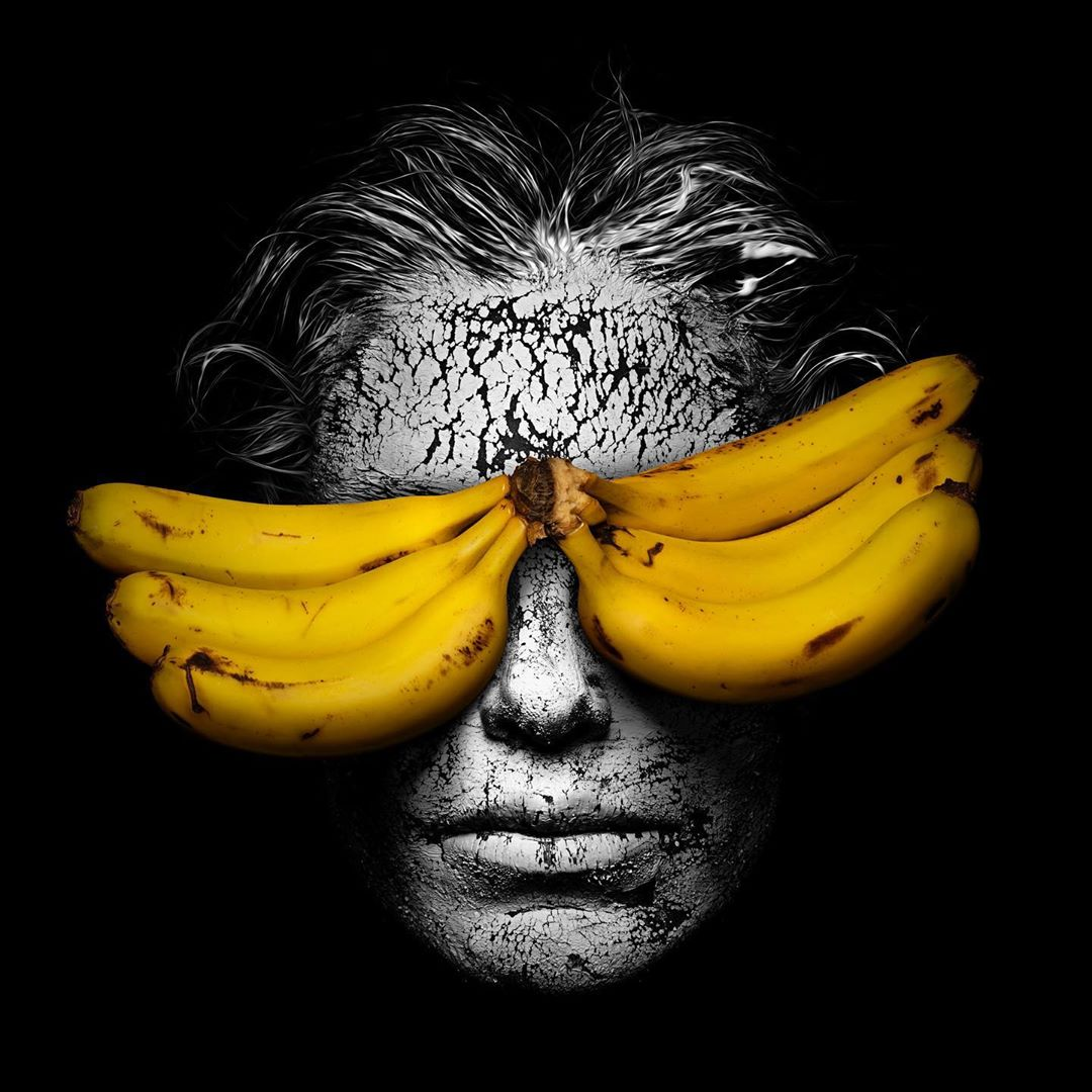 artwork banana eyes by gabriel wickbold