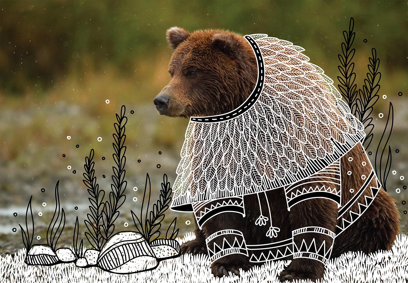 creative art ideas bear