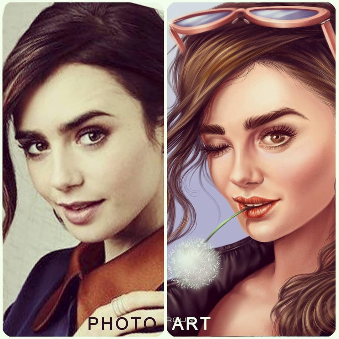 digital art photo to art masks
