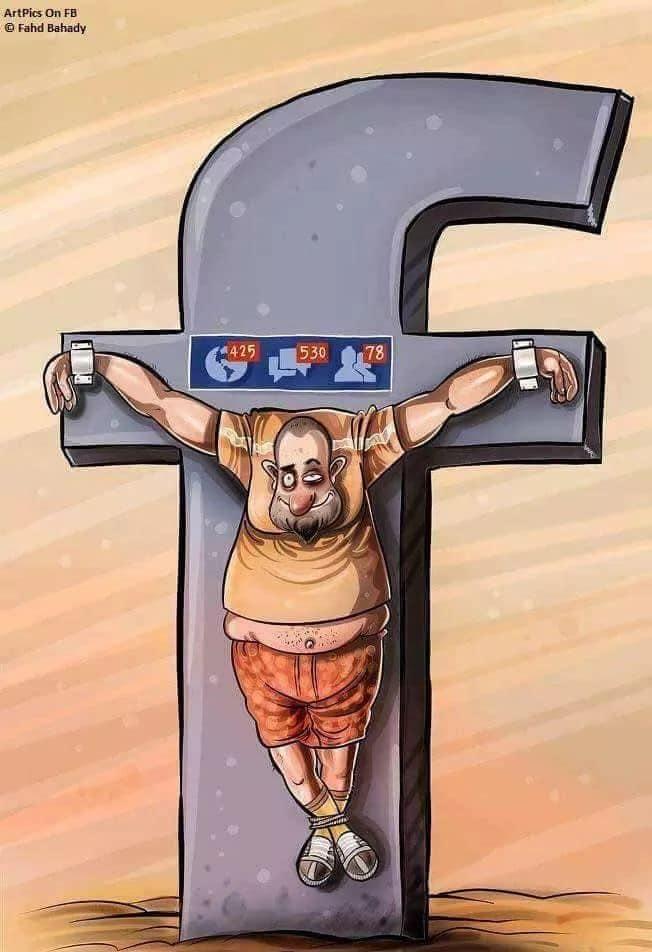 funny cartoons social media cross facebook