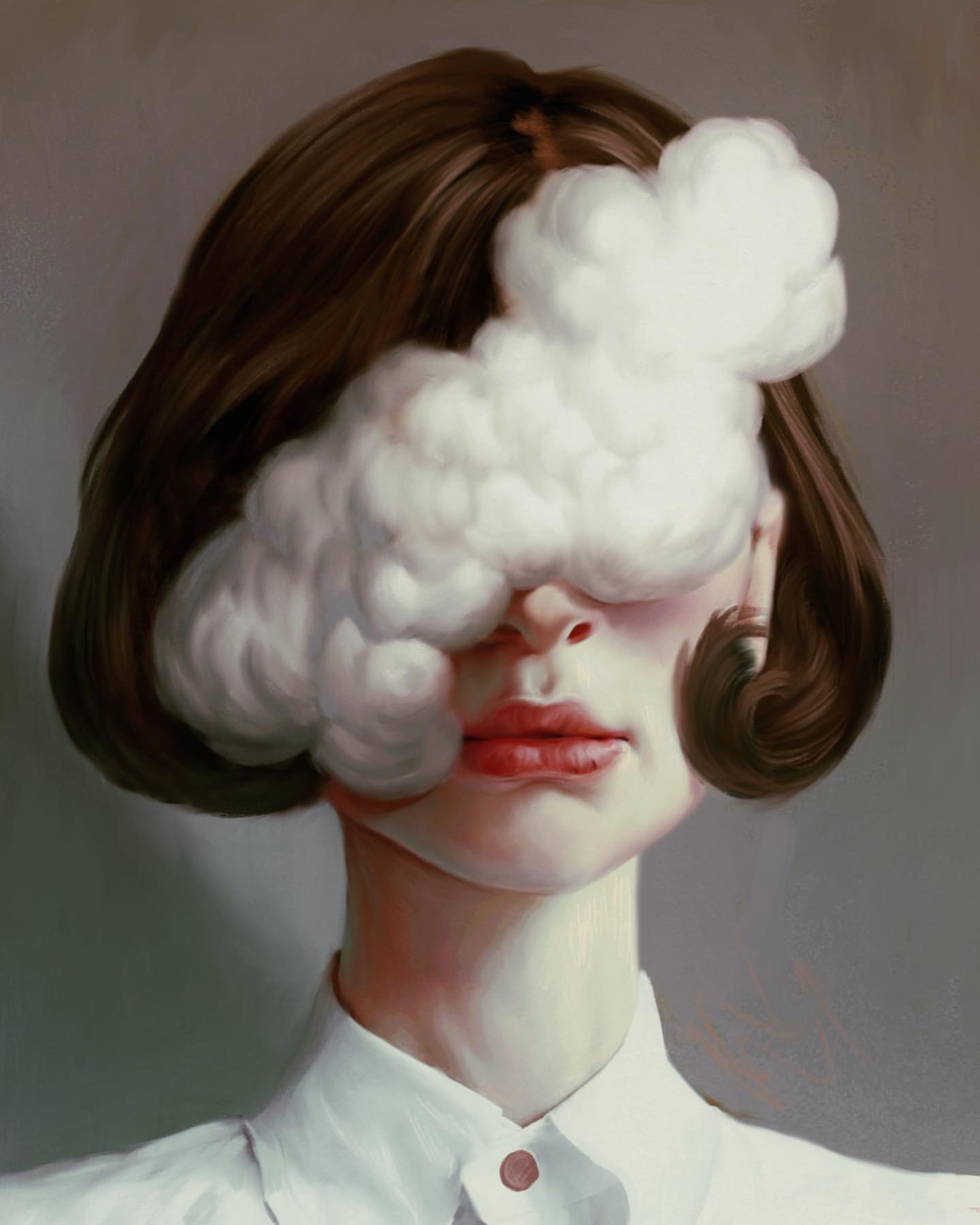surreal artworks cloud face