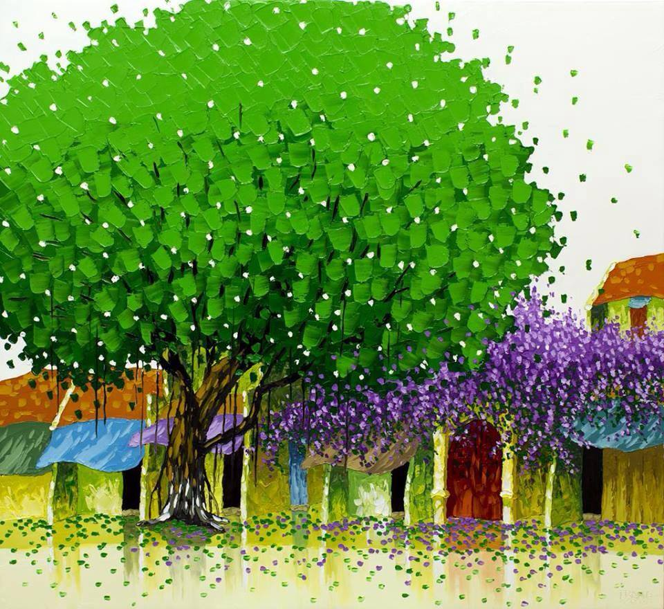 oil paintings spring by phan thu trang