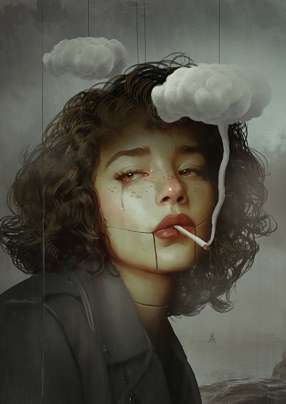surreal artworks cloud smoke