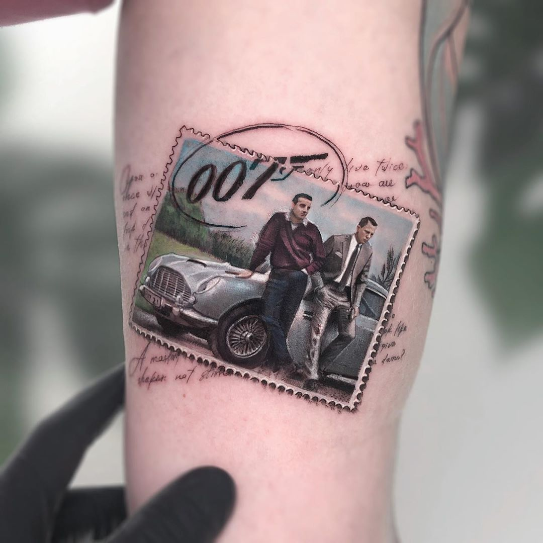 tattoo art james bond by eden kozo