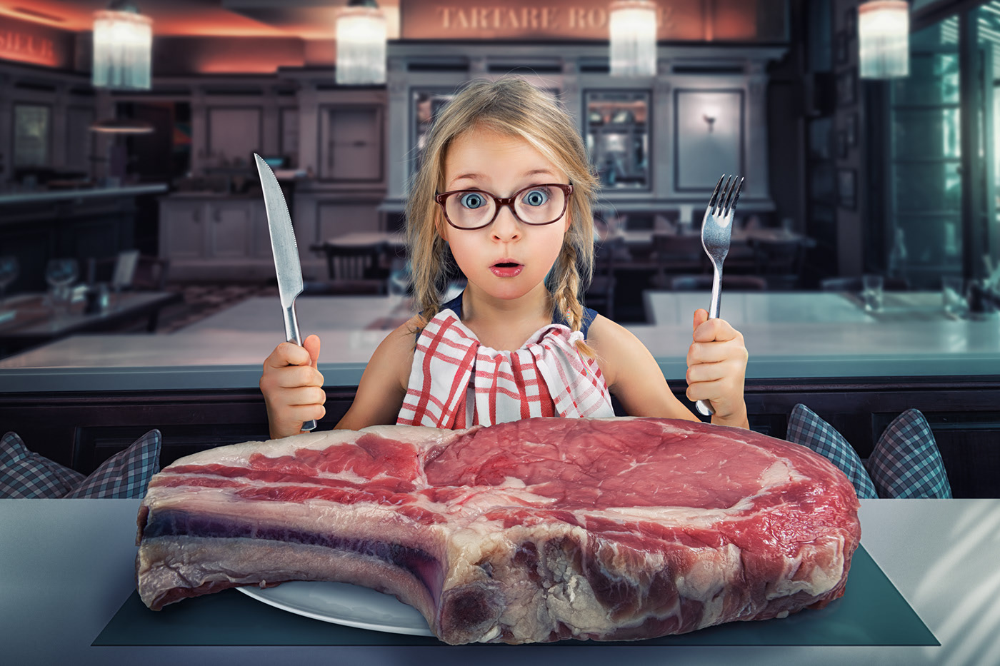 photo manipulation steak