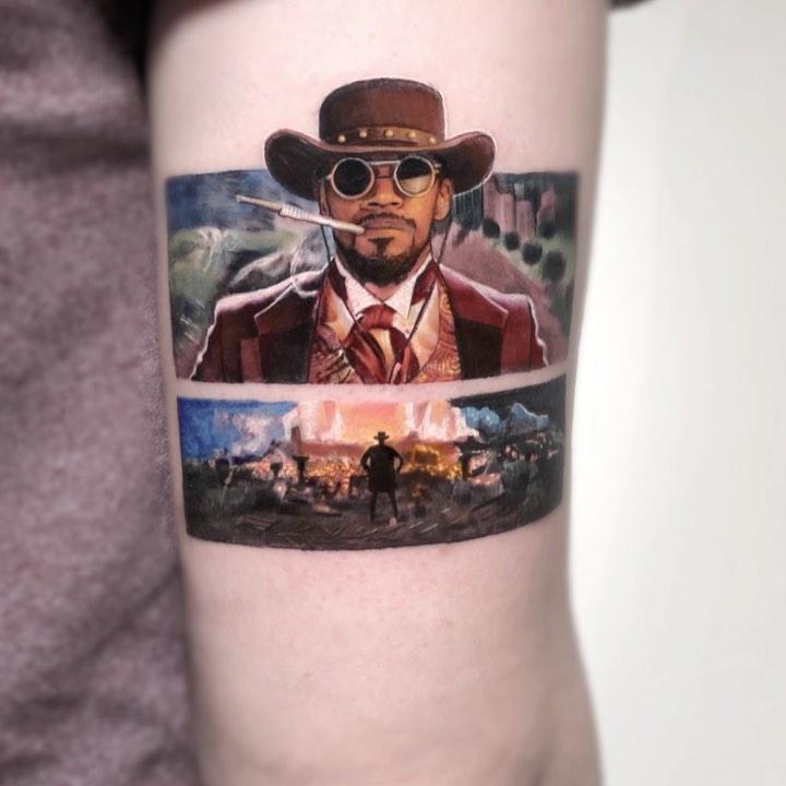 tattoo portrait cowboy
