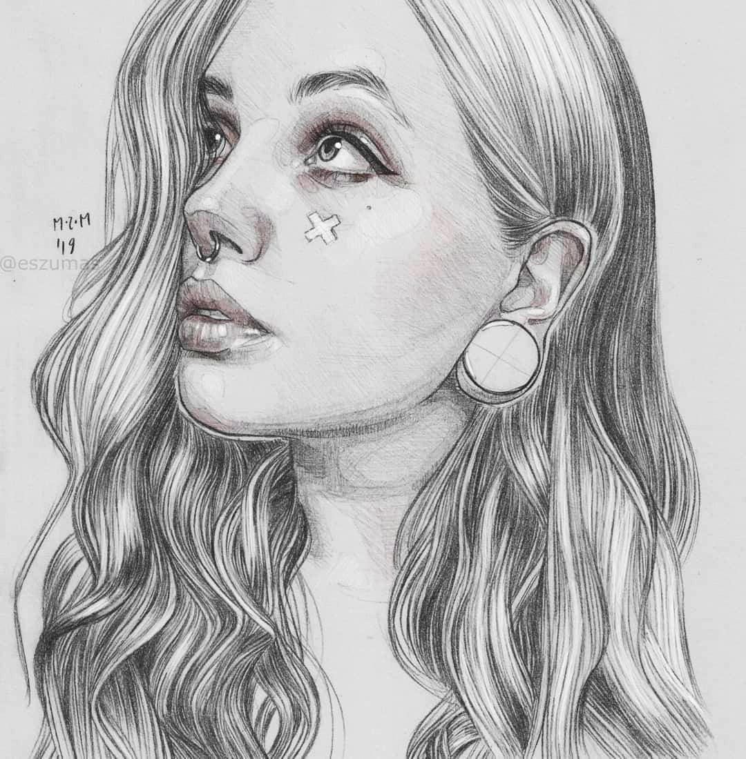 pencil drawing mirna kaplan