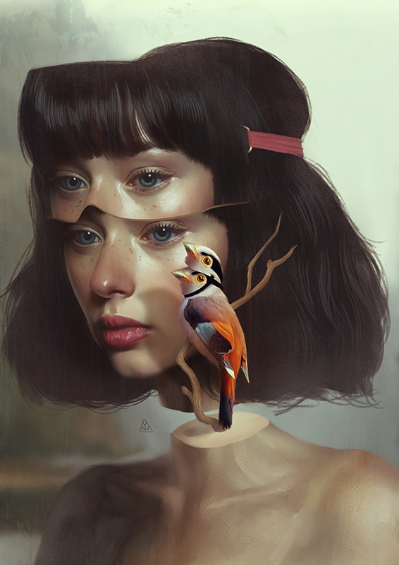 surreal artworks split personality