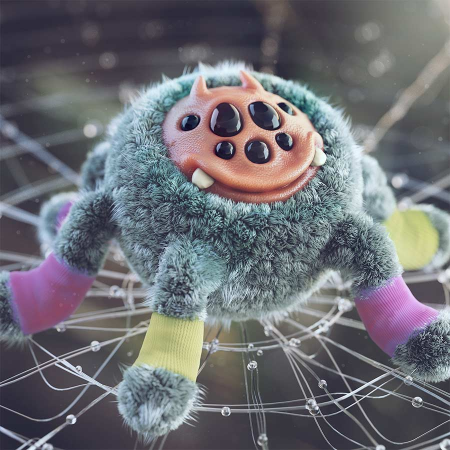 funny 3d model design spider