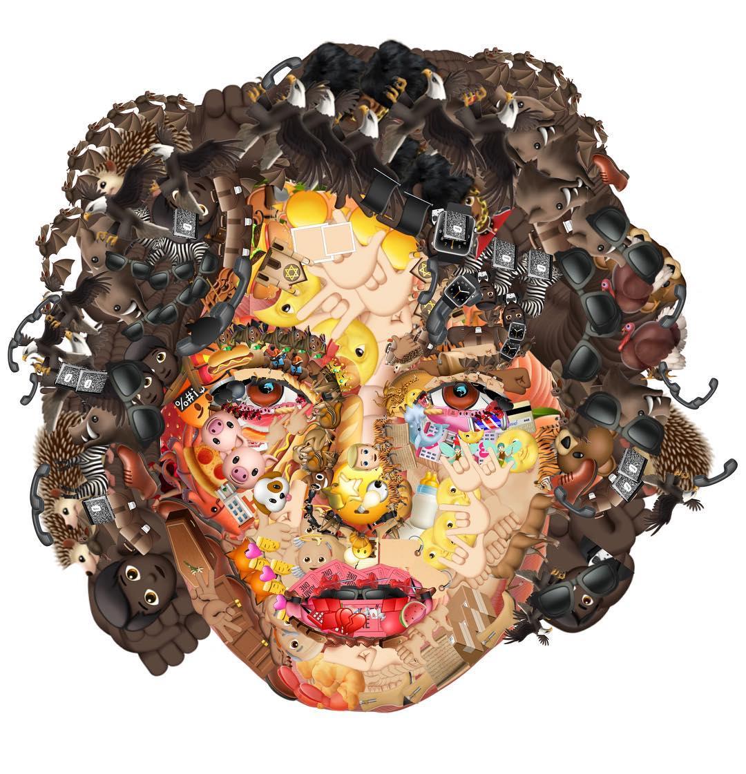 photo manipulation face emoji woman