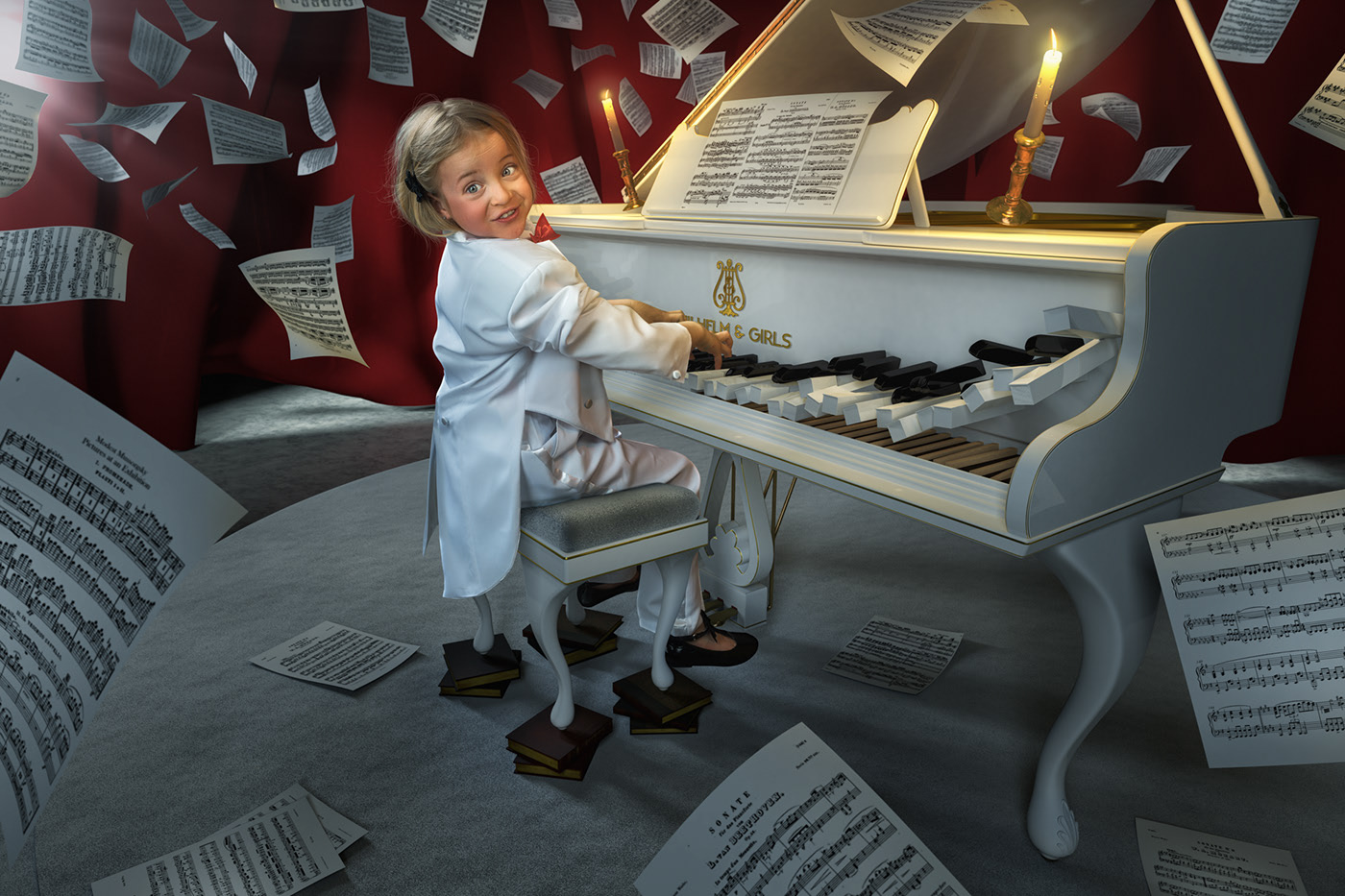 photo manipulation pianist by john wilhelm