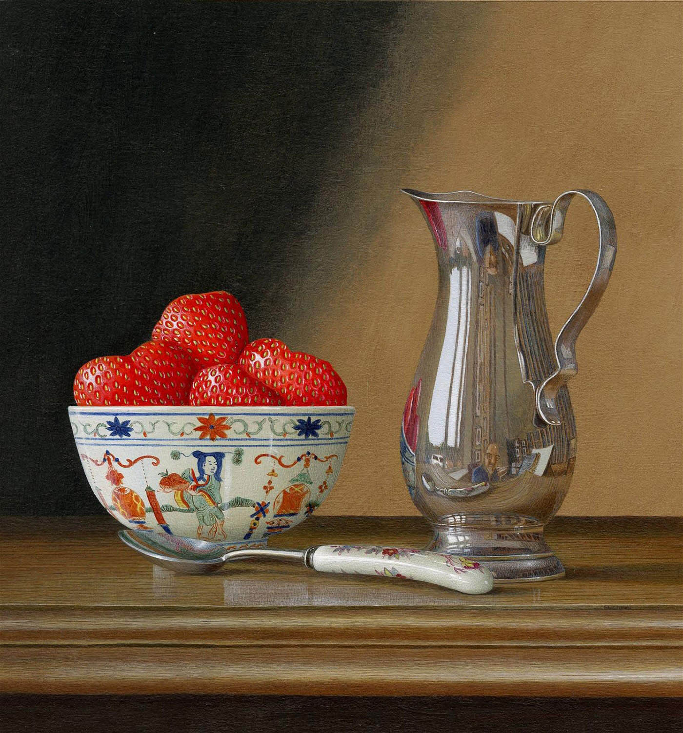 acrylic still life painting strawberry