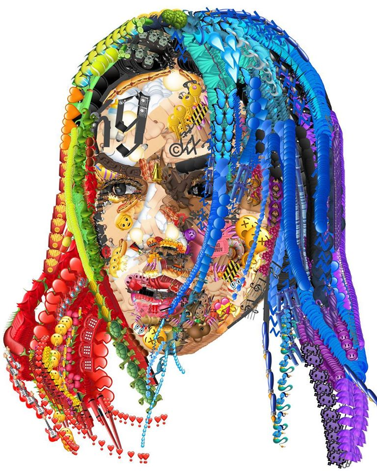 photo manipulation face emoji nicki minaj by yung jake
