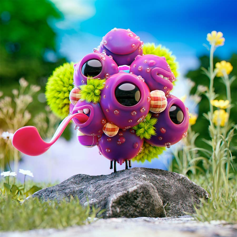 funny 3d model design monster