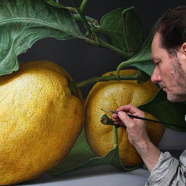 oil painting lemon