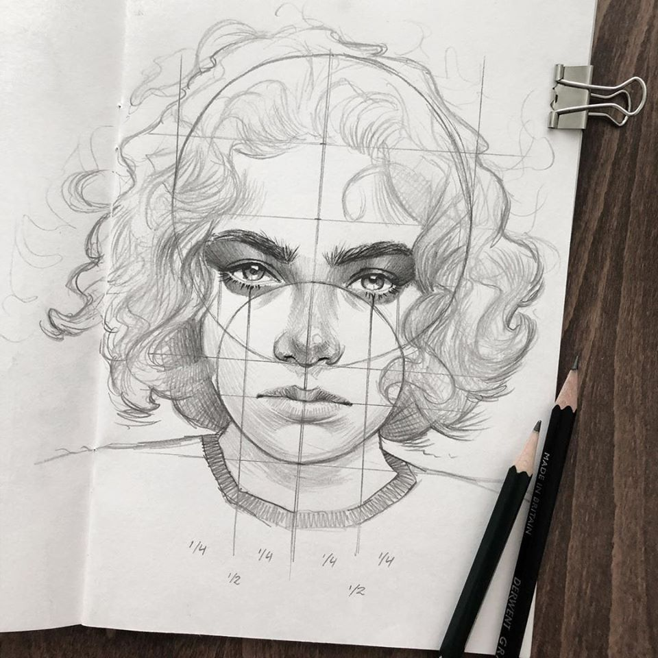 pencil drawing face