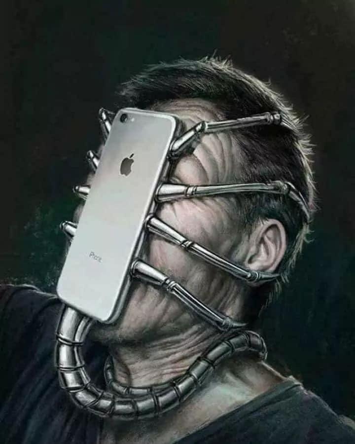 funny cartoons social media iphone monster