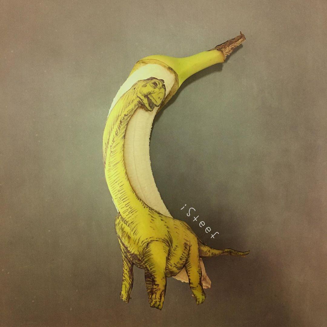 funny creative art ideas dino by stephan brusche