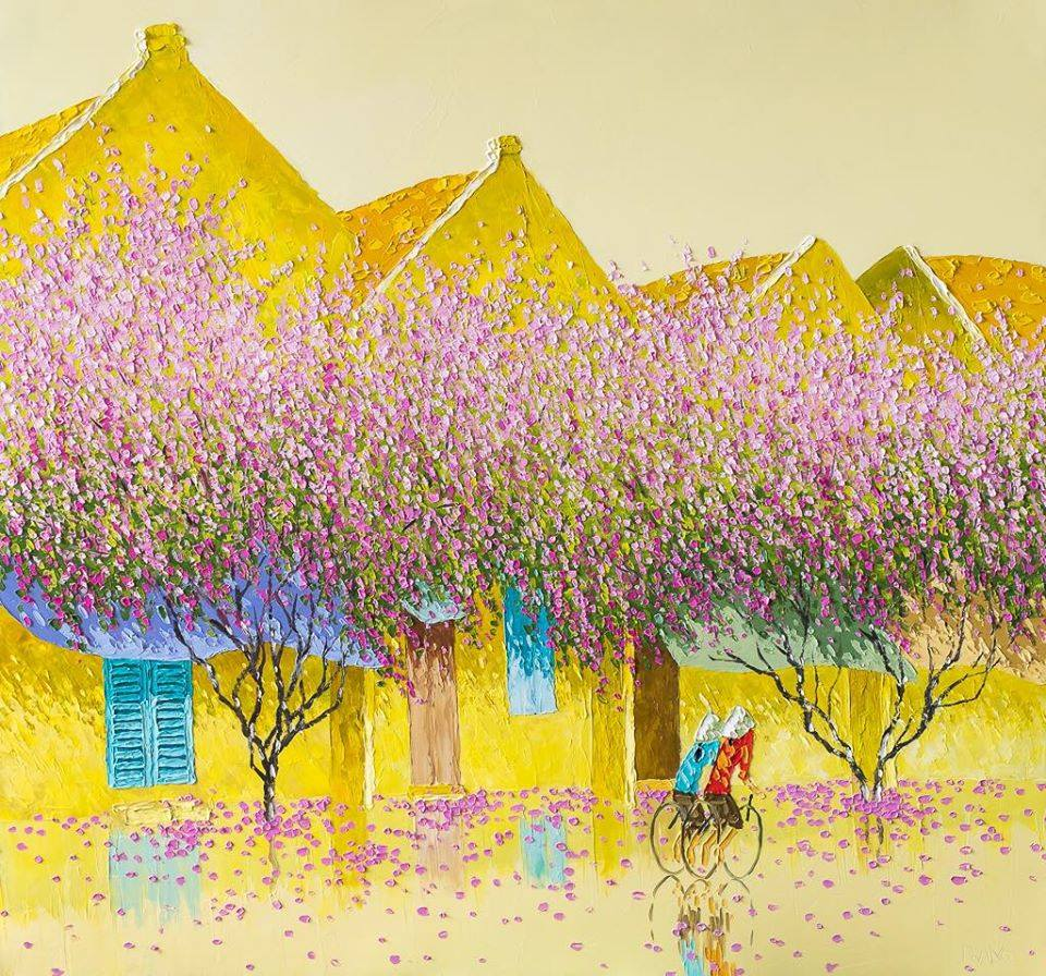 oil paintings lavender by phan thu trang